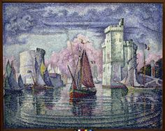 Paul Signac / Port de La Rochelle, 1921 >>> Mainly re-pinned because it's La Rochelle, and I love those towers.
