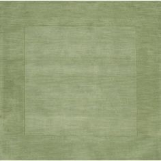 Hand-crafted Moss Tone-On-Tone Bordered Beech Rug