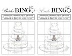 5 Best Images of Free Printable Blank Bridal Bingo - Printable ...