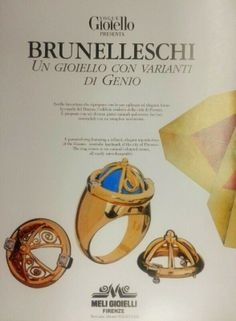 #MeliGioielliFirenze was on #VogueGioiello with the #BRUNELLESCHI #ring. A patented ring featuring a refined, elegant riproduction of the DUOMO, symbolic landmark of the city of FLORENCE. The ring comes in six natural coloured stones, all easily interchangeable. Handmaded and Patented by Meli Gioielli Firenze
