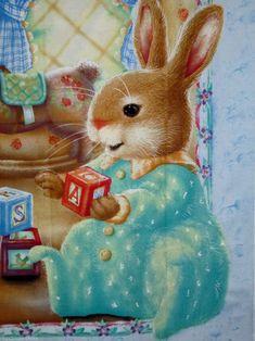 by Susan Wheeler Beatrix Potter, Susan Wheeler, Vintage Children's Books, Vintage Cards, Rabbit Art, Bunny Art, Whimsical Art, Cute Illustration, Illustrators