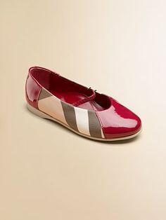 Burberry - Toddler's & Girl's Check Ballerina Flats - Saks.com