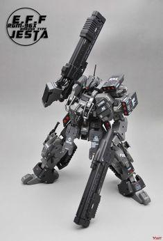 Superior Hobby Complex: MG Jesta On-Rush Type - Custom Built Gunpla Kitbash Sci Fi Anime, Mecha Anime, Armored Core, Gundam Custom Build, Lego Mecha, Gunpla Custom, Super Robot, Suit Of Armor, Robot Design