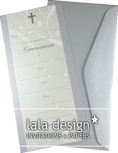 Latte flourish christening invitation