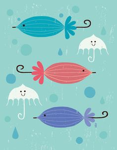 Umbrella of fish