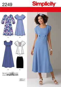 Simplicity pattern 2249: Misses' & Plus Size Dresses in two lengths or tunic and skirt