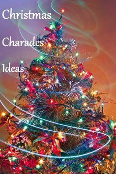 Christmas Carol Charades and Christmas Song Charades