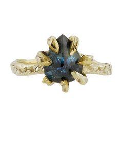 Lauren Wolf Blue Sapphire Ring: $1,100; catbirdnyc.com #weddingring #nontraditionalbride #engagementring