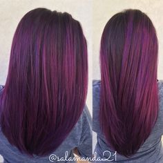 Purple hair balayage