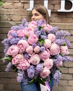 Dreamy huge Lilac & Peonies bouquet by 💗 _________________ by Magazine Deco Floral, Arte Floral, Floral Design, Beautiful Flower Arrangements, Floral Arrangements, Peony Arrangement, Peonies Centerpiece, Tall Centerpiece, Centerpiece Wedding