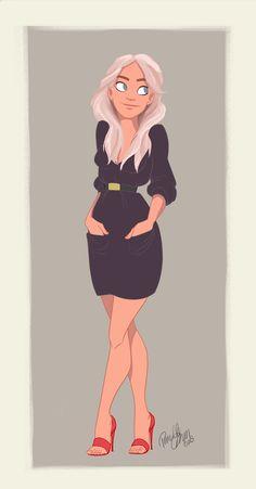 Girl illustration / Ragazza, illustrazione - Art by Pernille