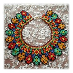 Ukrainian Folk ethnic necklace traditional Ukraine necklace