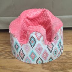 Tribal diamond and coral Minky Bumbo cover by LittleMissPBcup on Etsy https://www.etsy.com/listing/262371507/tribal-diamond-and-coral-minky-bumbo