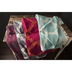 @Overstock - Perry Cotton Moroccan Trellis 50x70-inch Throw - Stay warm during the cold months with this woven cotton Moroccan Trellis designed throw blanket. The throw is available in 5 color options that will be a vibrant accent to any room. Dry cleaning or spot-cleaning is recommended.   http://www.overstock.com/Bedding-Bath/Perry-Cotton-Moroccan-Trellis-50x70-inch-Throw/8869895/product.html?CID=214117 $49.99