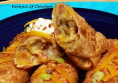 Forkful of Comfort: Loaded Potato Egg Rolls