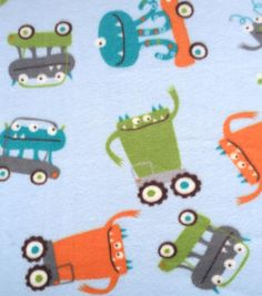 Anti-Pill Fleece Fabric-Riding Monsters
