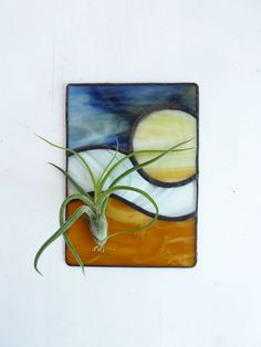 Stained Glass Panel Air Plant Holder - Harvest Moon. $28.99, via Etsy.