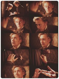 "Tom Hiddleston as William Buxton....all his gorgeous ""Tommy Curls"" and those fingers!"