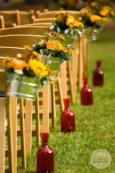 Ceremony aisle lined
