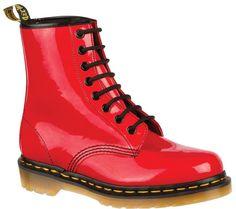 Dr. Martens 1460 8 Eye Boot Patent - Red Patent Lamper - FREE Shipping & Returns | Shoebuy.com