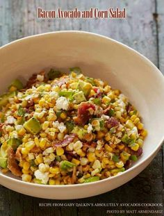 Bacon, avocado, corn salad