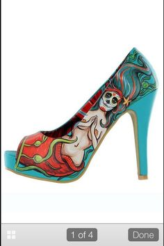 Iron Fist Sugar Skull Mermaid. Love the color and subject if these!