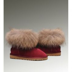 2013 Fashion Classical Ugg Fox Fur Mini Boots for womens Clearance #UGGboots #womens #athosartonline #ugg #winterboots #snowboots