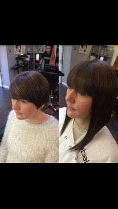 Hair extensions used on short hair to help grow out old style