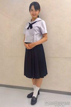 Pleated School Skirt, Midi Skirt, High Waisted Skirt, Cute Japanese, Japanese Girl, Japanese School Uniform Girl, Kids Uniforms, Sailor Fashion, School Fashion