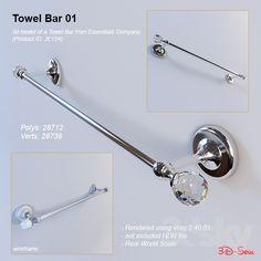 3d models: Bathroom accessories - Towel Bar 01