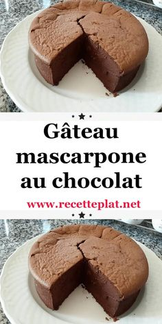 Chocolate mascarpone cake - A delicious cake, without butter, but so good that you won& want to make more! His secret? Gentilly Cake Recipe, Cakes Without Butter, Chocolat Recipe, Turtle Cheesecake Recipes, Mascarpone Cake, Desserts With Biscuits, Yummy Cakes, Sweet Recipes, Food Cakes