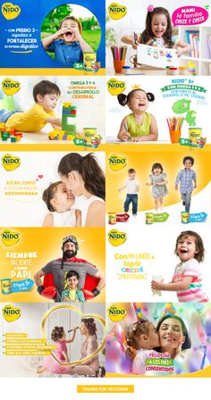 Nido 3 - Nido Fortigrow / Nestle on Behance Creative Poster Design, Ads Creative, Creative Advertising, Advertising Design, Kids Graphic Design, Ad Design, Social Media Poster, Social Media Banner, Social Media Template