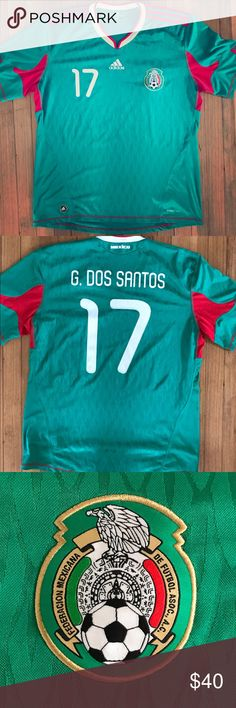 97454f9aa02 Shop Men's adidas Green White size XL Shirts at a discounted price at  Poshmark. Description: Giovanni dos Santos Mexico national team jersey Sold  by ...