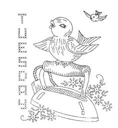 Design 759 d by mmaammbr, via Flickr--7 days of the week--very cute birds