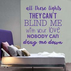 1D One Direction Drag Me Down Lyrics Wall Sticker   All These Lights They  Cant Blind Part 92