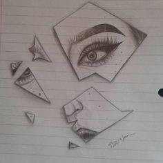 Sie brach den Spiegel mit ihrem knalligen Glanzlicht und dem scharfen Flügel, n… Sie brach den Spiegel mit ihrem knalligen Glanzlicht und dem scharfen Flügel, nur während des Unterrichts. Girl Drawing Sketches, Sad Drawings, Dark Art Drawings, Pencil Art Drawings, Broken Drawings, Sad Girl Drawing, Tattoo Sketches, Paper Art Projects, Arte Sketchbook