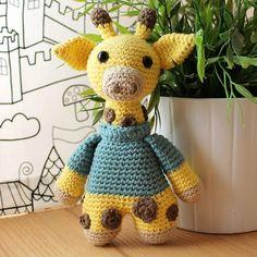 Giraffe - Animalius. Amigurumi Pattern PDF, Animal Toy, Nursery Doll, Crochet Pattern, Animal Crochet, Cute Children Gift, Instant download
