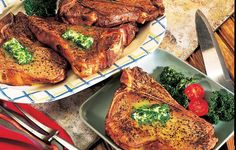 Club Steaks with Parsley Butter- A simple and easy steak !! yummy!