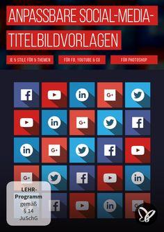 #titelbild #youtube #facebook #twitter #linkedin #vorlage #template #design #socialmedia #cover #bild Corporate Design, Usb Stick, Start Ups, Cinema 4d, Social Media, Train, Templates, Twitter