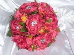 A personal favorite from my Etsy shop https://www.etsy.com/listing/226724857/hot-pink-ranunculus-and-cosmos-bouquet