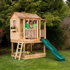 Outdoor Living Today 6 ft. x 6 ft. Little Squirt Playhouse with Sandbox-LSP66SS - The Home Depot