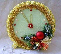 Новогодние часы из конфет. Мастер -класс   Домохозяйка