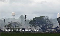 Samaritan's Purse is bringing relief to West Texas after a tragic explosion.
