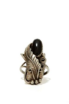 Vintage Light as a Feather Ring