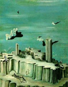 """Yves Tanguy """"Neither Legends Nor Figures"""", 1930 (France, Surrealism, cent. Yves Tanguy, Surrealism Painting, Weird Creatures, Magritte, Surreal Art, Abstract Landscape, Les Oeuvres, Painting & Drawing, Illustration Art"""