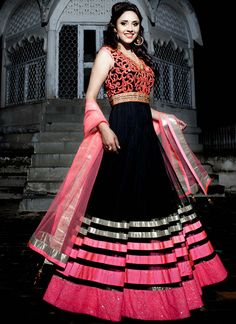 Black Floor Length Anarkali Suit