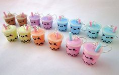 kawaii earrings | Kawaii Drink Charms Kawaii Jewelry