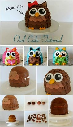 Owl birthday cake for my two year old daughter Party Ideas