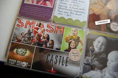 love the tiny collage template and the idea of printing tv shows that we are watching now