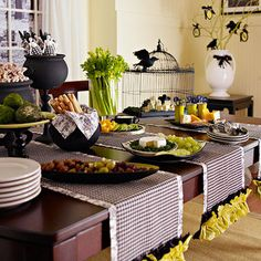Black & Green Halloween Party Color Scheme (cute ideas here)